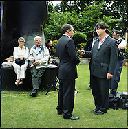 UK. London. The Village Green: From Blair to Brexit.<br /> A story on the relationship between the Media, Politicians and the public as they come together on College Green, a small patch of land next to The Houses of Parliament in Westminster. <br /> Photo shows Conservative MP Dr Liam Fox talking to the BBC on the day Gordon Brown took over as British Prime Minister.<br /> Photo©Steve Forrest/Workers' Photos