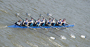 Chiswick, London, Great Britain.<br /> Headington School.Champ Girls Eight competing in the <br /> 2016 Schools Head of the River Race, Reverse Championship Course Mortlake to Putney. River Thames.<br /> <br /> Thursday  17/03/2016<br /> <br /> [Mandatory Credit: Peter SPURRIER;Intersport images]