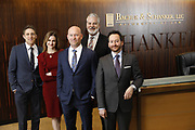 SHOT 1/8/19 12:14:43 PM - Bachus & Schanker LLC lawyers James Olsen, Maaren Johnson, J. Kyle Bachus, Darin Schanker and Andrew Quisenberry in their downtown Denver, Co. offices. The law firm specializes in car accidents, personal injury cases, consumer rights, class action suits and much more. (Photo by Marc Piscotty / © 2018)