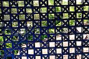 Woven split-bamboo screen. Vietnam