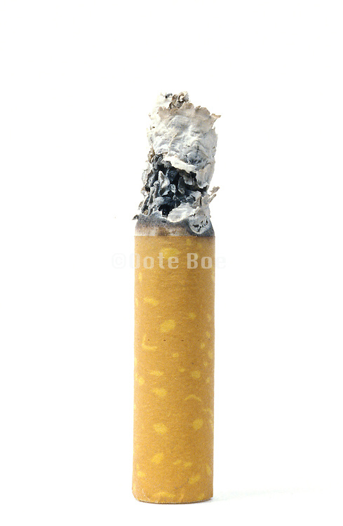 silhouette of finished cigarette