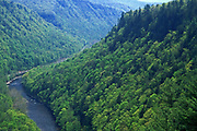 Aerial, Pine Creek, Pine Creek Gorge, rail to trail, Waterville, Lycoming County, PA