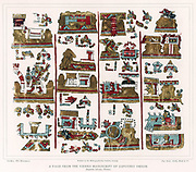 Aztec: page from Vienna Nahua manuscript of Zapotec origin. Lithograph