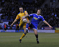 Photo: Tony Oudot/Richard Lane Photography. Leicester City v Southend United. Coca-Cola Football League One. 06/12/2008. <br /> Peter Clarke of Southend with Steve Howard of Leicester City