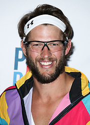 LOS ANGELES, CA, USA - AUGUST 23: 6th Annual PingPong4Purpose held at Dodger Stadium on August 23, 2018 in Los Angeles, California, United States. 23 Aug 2018 Pictured: Clayton Kershaw. Photo credit: Xavier Collin/Image Press Agency / MEGA TheMegaAgency.com +1 888 505 6342
