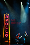 Change performs at the Apollo Theater 75th Birthday Celebration Press Conference announcing its special anniversary programming across Harlem, New York, and the Nation.