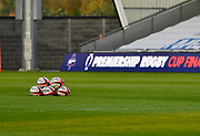 General picture of the pitch prior to the The Premiership Rugby Cup Final at The AJ Bell Stadium, Eccles, Greater Manchester, United Kingdom, Monday, September 21, 2020. (Steve Flynn/Image of Sport)