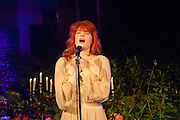FLORENCE WELCH: florence and the machine performing.  An evening at Sanderson to celebrate 10 years of Sanderson, in aid of Clic Sargent. Sanderson Hotel. 50 Berners St. London. W1. 27 April 2010 *** Local Caption *** -DO NOT ARCHIVE-© Copyright Photograph by Dafydd Jones. 248 Clapham Rd. London SW9 0PZ. Tel 0207 820 0771. www.dafjones.com.<br /> FLORENCE WELCH: florence and the machine performing.  An evening at Sanderson to celebrate 10 years of Sanderson, in aid of Clic Sargent. Sanderson Hotel. 50 Berners St. London. W1. 27 April 2010