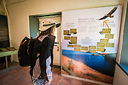 Interpretive display at the Scorpion Ranch visitor center, Santa Cruz Island, Channel Islands National Park, California USA
