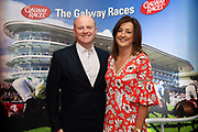 25/09/2018 Repro free: Melitia  and Michael Walsh MD Dubarry at the launch of Galway Racecourse  details of their new and exciting three-day October Festival that takes place over the Bank Holiday weekend, Saturday 27th, Sunday 28th and Monday 29th continuing racing and glamour into the Autumn.<br />   Each of the three race days offers something for all the family to enjoy, with a special theme attached to each day, together with fantastic horse racing, live music, delicious hospitality, entertainment and of course the meeting of old friends and new at Ballybrit.  <br /> Halloween Family Fun <br /> On Saturday 27th October come along with your children and grand children and enjoy the 'Spooktacular' Halloween themed family fun day with lots of entertainment including a fancy-dress competition, Halloween games and face painting to mention but a few!! All weekend children under 16 years of age have free admission. <br /> Race in Pink <br /> As part of this new October Festival and with-it being Breast Cancer Awareness month, Galway Racecourse have partnered with The National Breast Cancer Research Institute to host a dedicated fundraiser on Sunday 28th October called 'Race in Pink'.  <br /> <br /> Student Race Day in aid of the Voluntary Services Abroad <br /> Monday sees the return of our annual 'Student Race Day' in conjunction with the Voluntary Services Abroad (a medical aid charity run by the fourth-year medical students of NUI, Galway), and the NUIG Rugby Club.  Each year, this fundraising day for the student organisations raises a tremendous amount of money for their chosen projects including the VSA annual summer volunteer trip to Africa where they use the funds raised to help projects at the hospitals they visit. <br />  National hunt racing on Saturday kicks off at 2.05pm with racing Sunday and Monday off at 1.05pm. Adult admission on all three days is €15 with children under 16 years of age, free. For more information please check out www.galwayraces.com <