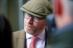 © Licensed to London News Pictures. 05/03/2017. London, UK. UKIP leader PAUL NUTTALL leaves BBC Broadcasting House in London after appearing on The Andrew Marr show on BBC One on 5 March 2017. Photo credit: Tolga Akmen/LNP