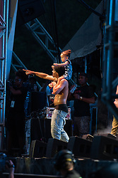 September 9, 2018 - T.I. (Clifford Joseph Harris Jr) and daughter Heiress performing at One MusicFest in Atlanta, GA on 09 September 2018 (Credit Image: © RMV via ZUMA Press)