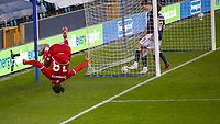 Football - 2020 /2021 Emirates FA Cup - Fourth Round : Millwall vs. Bristol City <br />  -  The Den<br /> <br /> Antoine Semenyo (Bristol City) celebrates after scoring his teams 3rd goal<br /> <br /> COLORSPORT/DANIEL BEARHAM