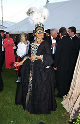 MRS GAVIN BURKE, she is actress Nimmi March adopted daughter of the Duke of Richmond at the 2004 Goodwood Revival ball this year theme was a Venetian Masked Ball, held at Goodwood Motor Racing circuit, West Sussex on 4t September 2004.