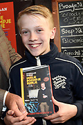 Boekpresentatie Huisje Boompje Buikje - Bastiaan Ragas  in Cafe Gruter, Amsterdam.  De nieuwe verhalenbundel is een pleidooi voor de ouwe lul 2.0<br /> <br /> op de foto: Sem Ragas