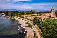 03-06-2018 Cote d'Azur: SAINT-HONORAT: DE ABDIJ VANAF HET OUDE FORT GEZIEN