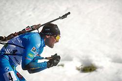 Simon Desthieux of France competes during the IBU World Championships Biathlon 15 km Mass start Men competition on February 21, 2021 in Pokljuka, Slovenia. Photo by Vid Ponikvar / Sportida