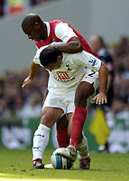 Photo: Olly Greenwood.<br />Tottenham Hotspur v Arsenal. The FA Barclays Premiership. 15/09/2007. Steed Malbranque and Abu Daby