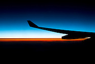 The sun rises over the Atlantic Ocean on our flight to Paris on May 15, 2012.