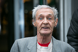 © Licensed to London News Pictures. 01/6/2016. Solihull, West Midlands, UK. PADDY HILL outside Solihull Civic Centre after hearing the coronors verdict regarding the re-opening of the case of the Birmingham Pub Bombings in 1974.  Photo credit: Dave Warren/LNP