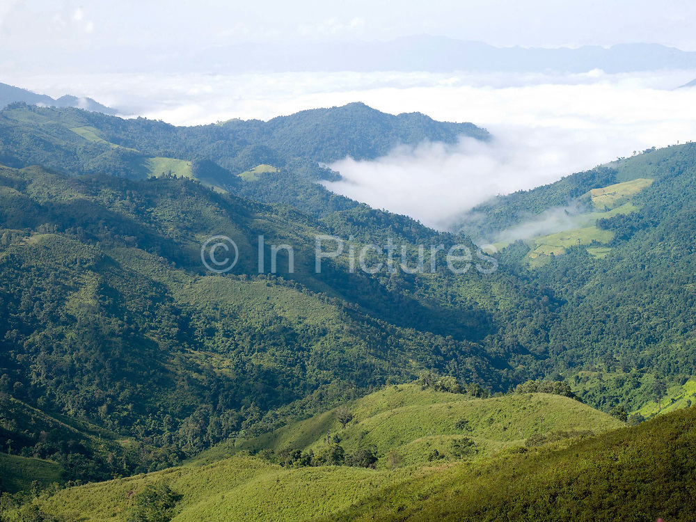 'The Sea of Clouds', Phongsaly Province, Lao PDR. Phongsaly Province is one of the remotest of the Lao PDR provinces and is dominated by rugged, mountainous terrain and an abundance of thick forests.