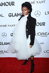 Janelle Monae attends the 2018 Glamour Women of the Year Awards at Spring Studios in New York