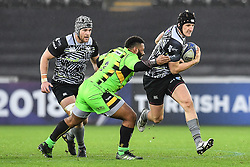 Ospreys' Scott Otten in action during todays match<br /> <br /> Photographer Craig Thomas/Replay Images<br /> <br /> EPCR Champions Cup Round 4 - Ospreys v Northampton Saints - Sunday 17th December 2017 - Parc y Scarlets - Llanelli<br /> <br /> World Copyright © 2017 Replay Images. All rights reserved. info@replayimages.co.uk - www.replayimages.co.uk