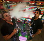 Fritz Graf, left, and Anand Gupta of Blow Hookah