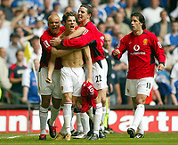 Photo: SBI/Digitalsport<br /> NORWAY ONLY<br /> <br /> Manchester United v Millwall. FA Cup Final. 22/05/2004.<br /> Christiano Ronaldo celebrates the opener