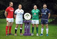 Rugby Union - 2018 Natwest Six Nations Launch Press Conference - Syon Park Hilton<br /> <br /> Home nations Captains _  l-r Alun Wyn Jones of Wales, Dylan Hartley of England,Rory Best of Ireland, John Barclay of Scotland<br /> <br /> COLORSPORT/ANDREW COWIE