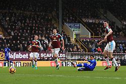 12th February 2017 - Premier League - Burnley v Chelsea - Pedro of Chelsea scores their 1st goal - Photo: Simon Stacpoole / Offside.