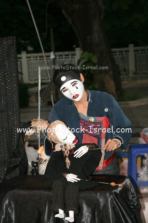 Thailand Street performer puppeteer