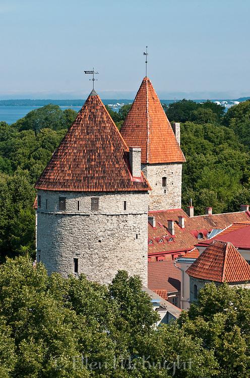 Medieval towers in Tallinn, Estonia