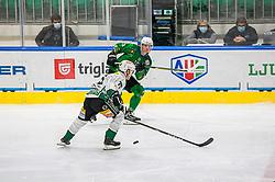 10# Sever Mrak of HK SZ Olimpija during the match of Alps Hockey League 2020/21 between HK SZ Olimpija Ljubljana vs. EC Bregenzerwald, on 09.01.2021 in Hala Tivoli in Ljubljana, Slovenia. Photo by Urban Meglič / Sportida