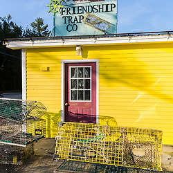 The Friendship Trap Company is one area business that depends on the commercial fishing fleet in Friendship, Maine.
