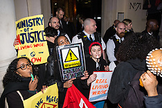 2019-02-12 London Living Wage protest outside Justice Secretary speech venue