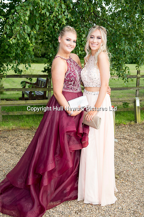 20 June 2019: Cleethorpes Academy Year 11 Prom at Brackenborough Hotel near Louth.<br /> (l-r) Ellie Gregory and Aiyana Johannesen.<br /> Picture: Sean Spencer/Hull News & Pictures Ltd<br /> 01482 210267/07976 433960<br /> www.hullnews.co.uk         sean@hullnews.co.uk