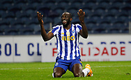 Moussa Marega of Porto gestures during the Portuguese League (Liga NOS) match between FC Porto and Maritimo at Estadio do Dragao, Porto, Portugal on 3 October 2020.