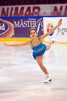 Kunstløp<br /> 07.02.2009<br /> Foto: Gøran Lenz/Digitalsport<br /> <br /> Anne Line Gjersem tog brons i damernas juniorklass vid helgens nordiska mästerskap i konståkning.