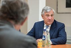 September 6, 2017 - Brussels, Belgium, Belgium - Antonio Tajani, President of the EU Parliament, is meeting 11 Ambassadors from Latin America. (Credit Image: © Riccardo Pareggiani/Pacific Press via ZUMA Wire)
