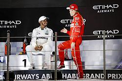 November 26, 2017 - Abu Dhabi, United Arab Emirates - Motorsports: FIA Formula One World Championship 2017, Grand Prix of Abu Dhabi, .#44 Lewis Hamilton (GBR, Mercedes AMG Petronas F1 Team), #5 Sebastian Vettel (GER, Scuderia Ferrari) (Credit Image: © Hoch Zwei via ZUMA Wire)