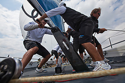 Palma Vela, Palma de Mallorca, Spain (21-24 April 2011) Practice onboard Matador / Azzurra. © Sander van der Borch / Gaastra