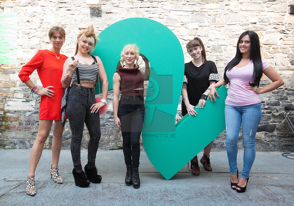 Repro Free: 11/09/2014<br /> Connected Girls, Venetia Quick, Elayne Harrington, Kate McGrew, Alanna Diddin and Nicole McQuillan pictured at the RTÉ Two New Season Launch in Gateway House, Capel Street. Picture Andres Poveda