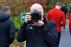 CARDIFF, WALES - Friday, November 16, 2018: Wales' photographer David Rawcliffe during a pre-match walk at the Vale Resort ahead of the UEFA Nations League Group Stage League B Group 4 match between Wales and Denmark. (Pic by Ethan Ampadu/Propaganda)