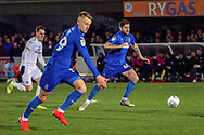 AFC Wimbledon midfielder Anthony Wordsworth (40) passing the ball during the EFL Sky Bet League 1 match between AFC Wimbledon and Peterborough United at the Cherry Red Records Stadium, Kingston, England on 12 March 2019.