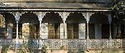 Old colonial architecture period house at Sarnath near Varanasi, Benares, Northern India