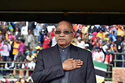 GIYANI, April 27, 2016 (Xinhua) -- South African President Jacob Zuma attends a rally marking the Freedom Day in Giyani, Limpopo Province, north of South?Africa, on April 27, 2016.  South?African President Jacob Zuma on Wednesday called for economic transformation, pledging to continue implementing black economic empowerment (BEE) and affirmative action programs.?(Xinhua/DOC/Elmond Jiyane) (Credit Image: © Xinhua via ZUMA Wire)