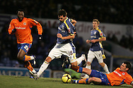 Joe Ledley of Cardiff City scores his goal to make it a 2-0 win.FA Cup, 3rd round match, Cardiff City v Reading at Ninian Park, Cardiff on Sat 3rd Jan 2009. .pic by Andrew Orchard, Andrew Orchard sports photography