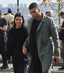 Kourtney Kardashian & Younes Bendjima are seen sightseeing around Paris, seen buying Croissants from GC bakery then visiting the Basilica Sauer Cleur where they spent an hour walking around the area, Kourtney and Younes hugged each other as they watched a group of french musicians<br /><br />30 September 2017.<br /><br />Please byline: Vantagenews.com
