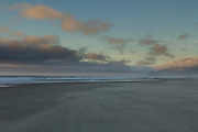 The beach at the Oregon Coast where the Pacific Ocean creates vast expanses of sand. © Michael Durham / www.DurmPhoto.com